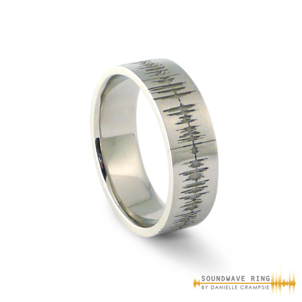 A Custom Soundwave Wedding Ring Etches The Image Of Your Personal Sound Wave Onto